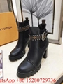 Women Louis Vuitton Star Trail Ankle Boot LV Designer Leather Heel 9.5cm Replica