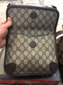 Gucci GG Supreme Noe Vintage Web Belt Bag Brown Gucci waist bag Beige monogram