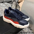 Valentino Garavani Calfskin and Suede leather sneaker Navy UK New fashion men