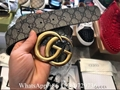 Gucci GG Supreme Monogram Beige Buckle belts Gucci Leather belts 3CM 7CM