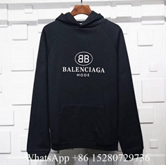 Balenciaga BB Mode Hoodie Printed cotton Logo sweatshirt designer for men black