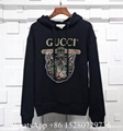 Gucci Hoodie Gucci Print LOGO hooded Cotton sweatshirt for men patch pullover