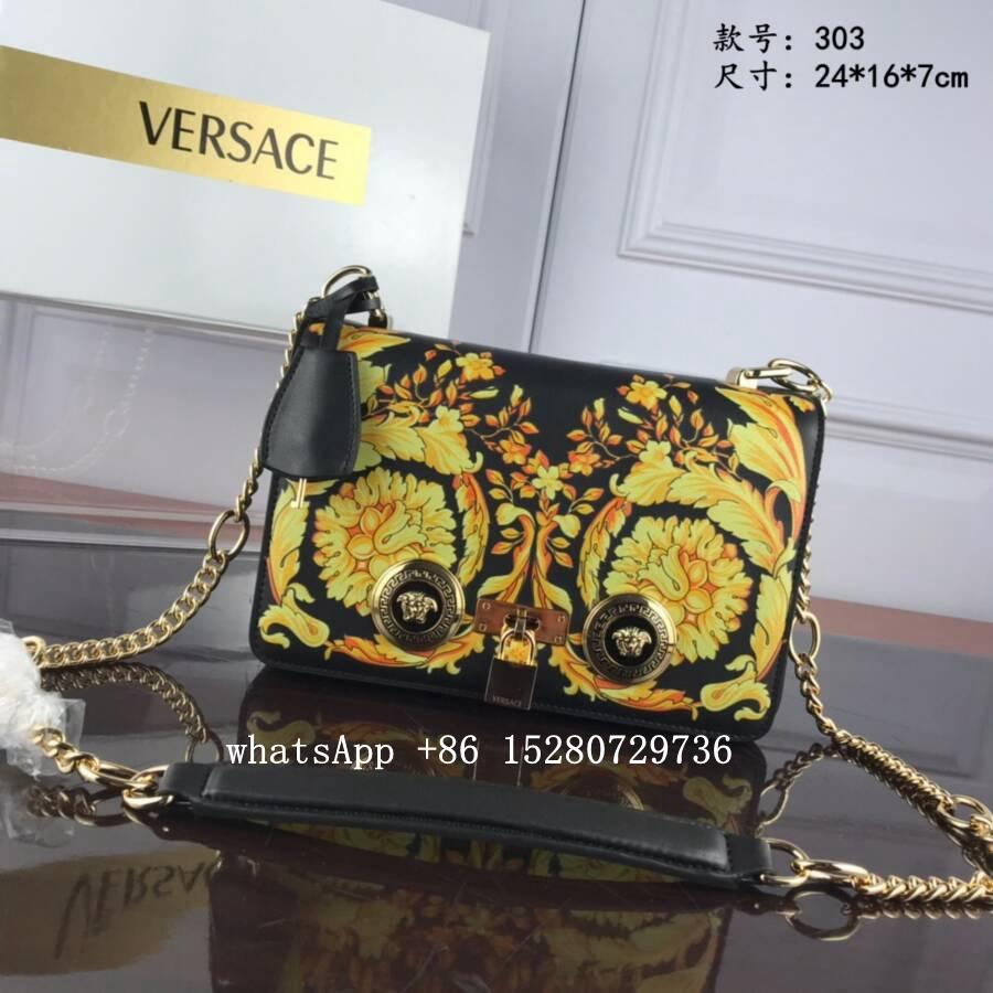 Women Versace Medusa Head CROSS-Body bag Versace Palazzo Evening Clutch leather