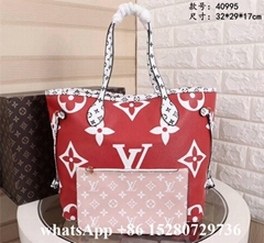 Louis Vuitton Bag LV Neverfull MM Damier Ebene Shopping Bag With LV Pochette Bag