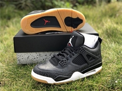 Wholesale Air Jordan 4 Retro shoes,J4 Retro SE Laser black basketball shoe cheap