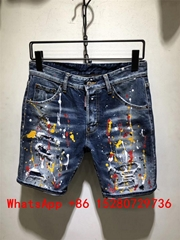 wholesale Cheap Dsquared2 DSQ short jeans D2 Hole pierre Rock Biker men jeans