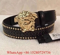 Versace Palazzo Medesa leather belt Versace men's belt Versace Buckle black belt