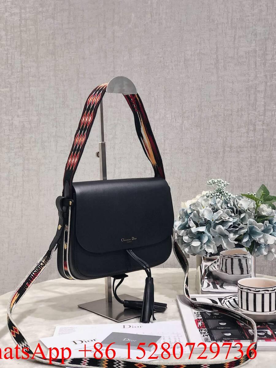 2019 Dior Oblique Saddle bag Dior Calfskin bag Mini Dior leather black   15