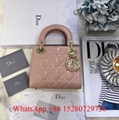 Christian Dior Mini Lady Classic bag Dior Strap white leather bag Chain shoulder