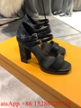 New Louis Vuitton Passenger Sandal LV Strap Canvas Heel sandals LV women sandal