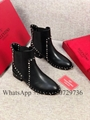 Valentino Boots Women Valentino Garavani Rocksted Genuie Lined  Ankle boots