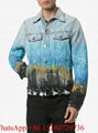 Amiri jacket Amiri Denim Trucker jacket Amiri Paint Splatter coats palm tree