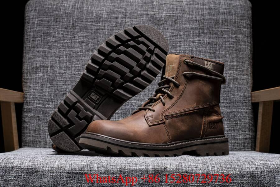 Caterpillar Sire Waterproof boot Men's CAT boots casual shoes safety shoes brown 12