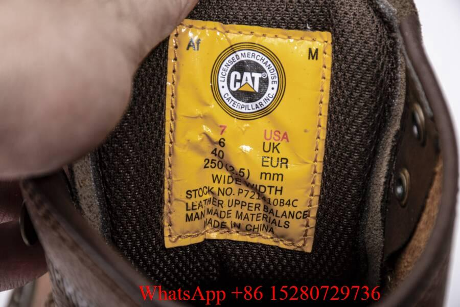 Caterpillar Sire Waterproof boot Men's CAT boots casual shoes safety shoes brown 14