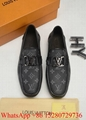 Louis Vuitton LV Dress shoes LV loafers leather shoes LV  formal shoes sale Gift