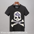 Wholeale Philipp Plein Skull Print T-shirts Men's Round Neck SS Short sleeve