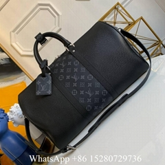 Louis Vuitton Keepall bag LV trave bag Vuitton Monogram lv bandouliere 45 55
