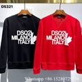 New Dsquared2 print sweatshirt Dsquared2 logo crewneck hoodie ICON jumper black