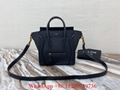 Celine nano luggage bag Women's Celine bag Celine drummed calfskin luxury bags