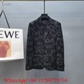 Newest Louis Vuitton monogram suit business jacket casual suit menswear black