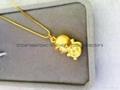 3d鍍金猴吊墜 廣告會銷 婚慶禮品 光面 生肖猴轉運項墜 銅錢猴 3