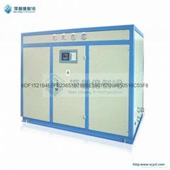 热销化工厂专用25HP水冷箱式工业冷冻机组