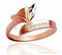 玫瑰金戒指