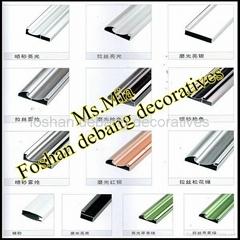 Wood grain aluminum profiles for kitchen door