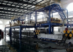 PP fiber one step staple fiber production line