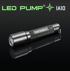 100 lumens CREE LED aluminum torch/flashlight with 1 AA battery