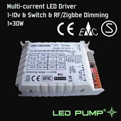 250~700mA Multi-current LED Driver(1×30W) with 1-10V & Switch Dimming Function