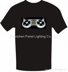 Sound Active EL T-shirt with dish machine logo design