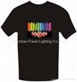 Equalizer EL T-shirt with loudspeaker logo designs