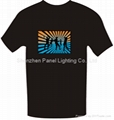 Latest Hot selling EL T-shirt with dancing girls logo designs
