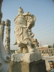 石雕关公像