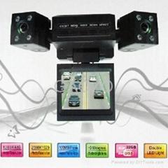 Mini Dual Rotatable Lens Vehicle Car Cemara DVR