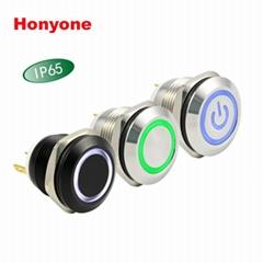 HONYONE PBM19不锈钢19mm金属防爆开关