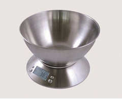5kg/1g digital stainless steel kitchen scales for household