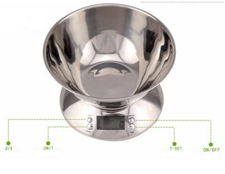 5kg/1g digital stainless steel kitchen scales for household 5