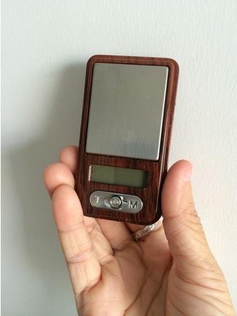 wood grain 100g*0.01g mini pocket scale 2