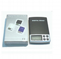 LCD display pocket scale