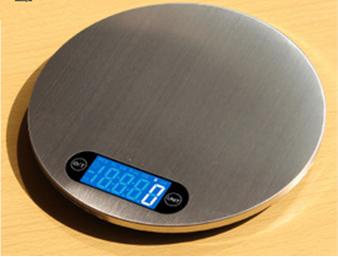 Round design stainless steel kitchen scale 1