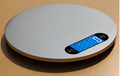 Round design stainless steel kitchen scale