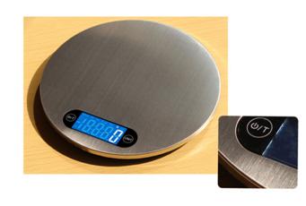 Round design stainless steel kitchen scale 4