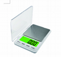 Pocket Scale/Kitchen Scale 600g*0.01g and 6kg*0.1g 1