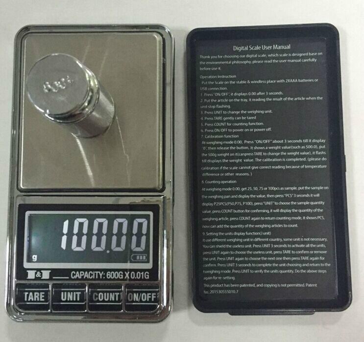 USB Pocket Scale BST-PC34B 1