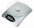 Tempered glass digital kitchen scale with capacity 5kg*1g