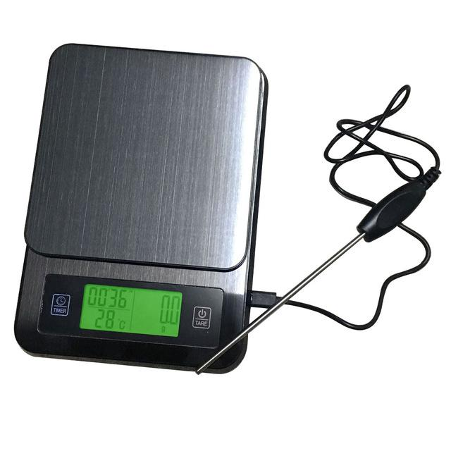 USB Electronic Coffee Scale with Timer and Thermometer BST-K308 1