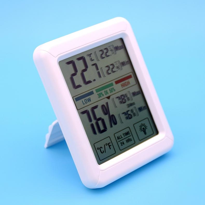 Household mini LCD Digital Thermometer Hygrometer with Jumbo Touchscreen and Bac 1