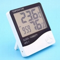 Wholesale HTC-1 Digital Thermometer Hygrometer with alarm clock